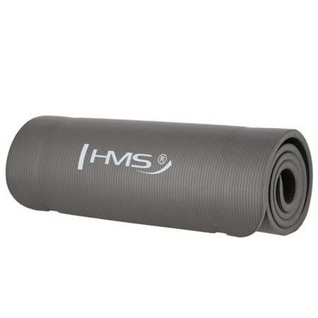 Gruba mata do ćwiczeń fitness 15mm YM04 HMS GRAY