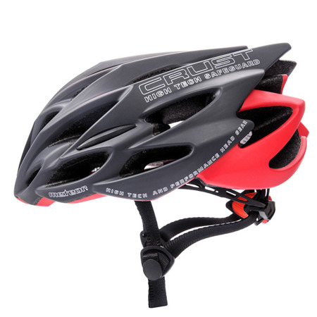 KASK ROWEROWY METEOR CRUST IN MOLD ROZM. M-L GREY-RED