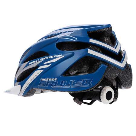 KASK ROWEROWY METEOR GRUVER M BLUE/WHITE