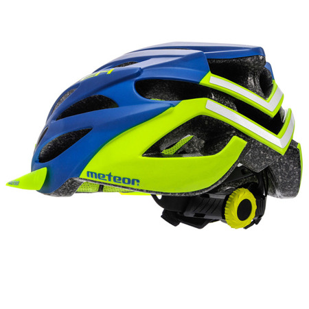 KASK ROWEROWY METEOR MARVEN ROZM. M-L NAVY NLUE/GREEN