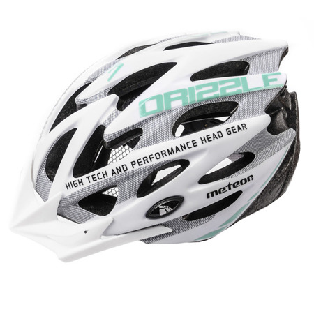 KASK ROWEROWY METEOR MV29 DRIZZLE M  WHITE/GREY/MINT
