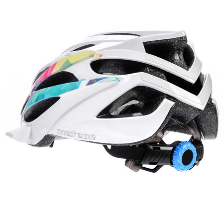 KASK ROWEROWY METEOR SHIMMER ROZM M WHITE